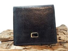 Vintage Black Leather Onyx Decorated Men Wallet