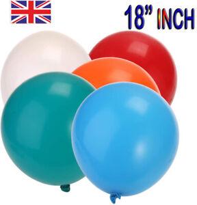 """18/"""" Inch Round Latex Balloons Wedding Decor Helium Big Large Giant Balloons UK"""