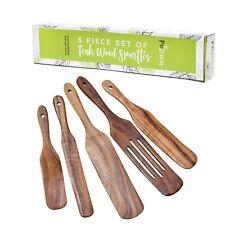 PreZervers 5 Piece Set of Teak Wood Spurtles