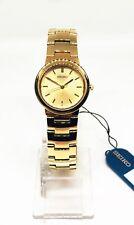 Reloj de señoras Seiko, tono oro caso, Pulsera & dial, Analógico, SWK464P1
