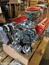 383 STROKER MOTOR 525hp ROLLER TURN KEY PRO STREET CHEVY CRATE ENGINE  SBC CNC