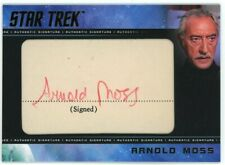 2020 Star Trek Tos Archives & Inscriptions Arnold Moss Cut Autograph Scarce