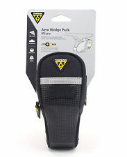 Topeak Micro Aero Wedge TC2470B Bike Seat Bag w/Fixer QuickClick QR Pack
