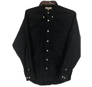 TURNBURY Mens Long Sleeve Dress Shirt VELOUR Dark Blue Size M NWOT