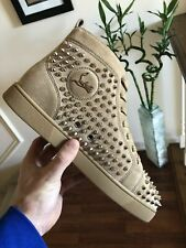 Christian Louboutin Louis Spikes Flat Size 44.5 100 Authentic