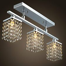 Chandelier 3 Lights Crystal Flush Mount Ceiling Lamp Lamparas de Techo Modernas
