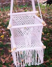 Baby Chair Swing Macrame Cotton Beige Hammock Hanging Baby Chair/Free Shipping