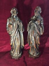 18th century Black Forest  Carved Wood Saint Figures