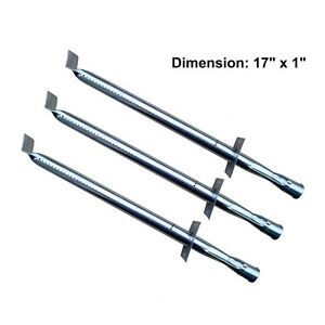 Jenn Air JA460 JA461 Gas Grill Burner Stainless Steel Pipe Parts 13001 3Pk
