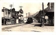 RPPC Skagway, Alaska Canadian Pacific Railroad Steam Train ca 1930s Postcard