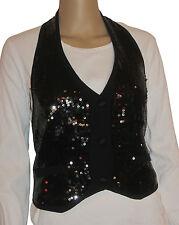 Love Moschino Ladies Vest Gilet All Over Pailettes Black (size 36)