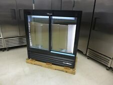 "New listing New True Gdm-41Sl-48-Hc-Ld 47"" Black Led Glass Soda Slim Pop Refrigerator Cooler"