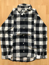 Girls Navy And White Flannel Shirt Old Navy Age 10-12
