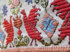RARE 1800s BEAUTIFUL ETHNIC EMBROIDERY~VEGETABLE DYED BRILLIANT COLORS~ ExCond