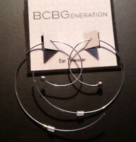 "BCBGeneration Silver tone Threader earrings with silver ball on the end, 2"" long"