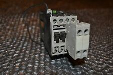Siemens Relay contactor 3tf3101-0b with two  3tx4010-2a NO AUX 24V DC coil