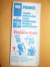 carte IGN 901 france autoroutes routes 1987 37eme paris nice france soir
