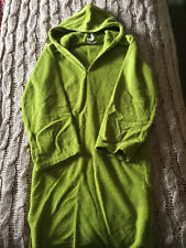 Towelling Hooded Robe 9-10 Years ( Lime Green )