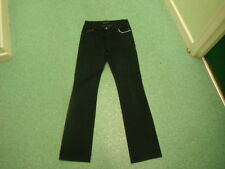 """Dorothy Perkins Straight Jeans Size 12 Leg 34"""" Black Faded Ladies Jeans"""