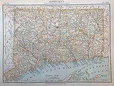 USA - Connecticut - North America - antique map -  census 1880 - Original state
