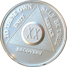 20 Year .999 Fine Silver AA Alcoholics Anonymous Medallion Chip Coin Twenty XX
