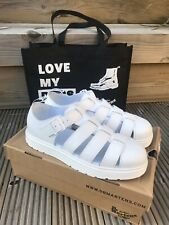 DR MARTENS VIBAL SOFTY T WHITE SANDALS UK 11 - NEW IN BOX - WITH FREE TOTE BAG