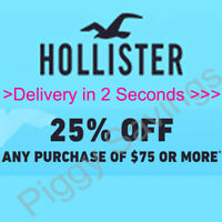✔️  25% HOLLISTER COUPON CODE work Sale Clearance items 12/30/2020 * wth BarCode