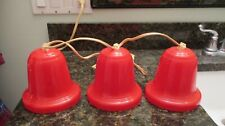 1950's Noma Strand of (3) Christmas Red Bell Christmas Lights