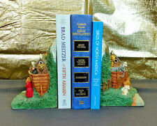Noah's Ark Religious Decorative Pair Bookends Americana Room Decor Organization