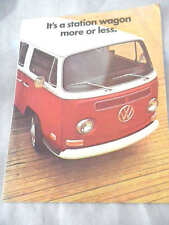 1971 Vintage Volkswagen Super Beetle Preview Catalog brochure bus