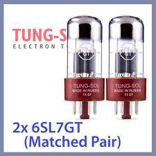 2x Tung Sol 6SL7 Tungsol TS Vacuum Tube 6SL7GT TESTED, Matched Pair