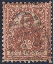 Stamp (A148) 1888 NSW 4d Brown OW238