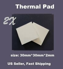 2x Thermal Conductive Compound Pad For Heatsink Chip CPU 30mmx30mmx2mm/pcs