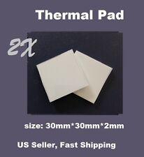 2x Thermal Conductive Compound Pad For Heatsink Chip CPU 30mmx30mmx2mm/pcs