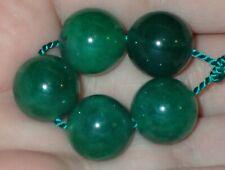 5 Green Indo - Tibetan, Tibet Jade beads, 14mm, #S2572