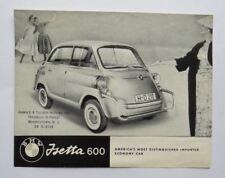1959 BMW Isetta 600 Brochure Microcar Vintage Original
