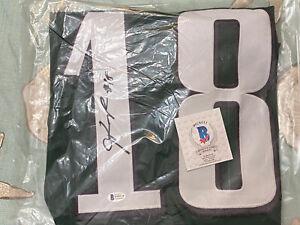 Jalen Reagor Autographed Philadelphia Eagles Custom Football Jersey - BAS COA