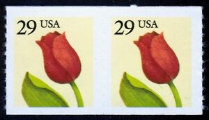 #2525 29c Flower, Coil Pair, Mint ANY 4=