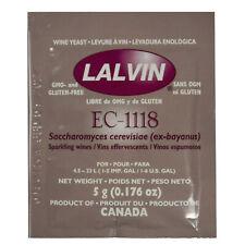 Lalvin Ec-1118 Champagne Yeast 5g Sachet 18 Homebrew Wine Making 4.5l-23l