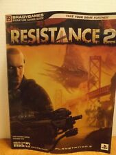 Resistance 2 Brady Games Signature Series Strategy Guide. PS3. Includes Poster