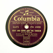 """ELSIE and DORIS WATERS """"Gert And Daisy And The Tandem"""" COLUMBIA FB-1559 [78 RPM]"""