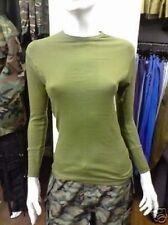 AUTENTICO esercito inglese verde manica lunga basse temperature MAGLIA X-Small