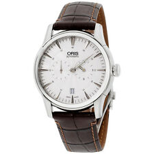 Oris Artelier Silver Dial Leather Strap Men's Watch 74976674051LS