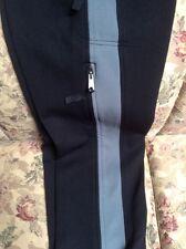 A7238 Jagged Edge Mountain Gear Black/Gray Nylon Stretch Pants Women SZ 4-6 X 30