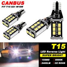 4 x White Canbus 15SMD LED Bulb For Chevy GMC Backup Reverse Light 912 921 T15