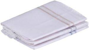 White Plain Cotton Handkerchief For Men Soft Hanky For Regular Usede