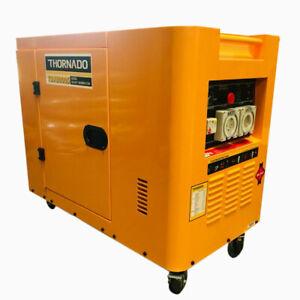 Thornado Diesel Generator with Silent Canopy 8000W Max 14HP Key Start