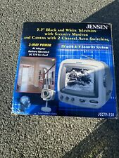 Jensen 5.5 Inch Balck And White Television With Security Monitor And Camera