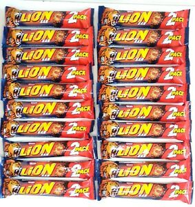 Nestlé Lion Bar 2 Pack - 20 x 60g Bars - Best Before 31/08/2021
