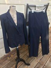 Ann Taylor Womens 2 Piece Pant Suit Charcoal Gray Top 8 Pants 8 Excellent